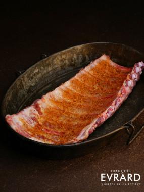 Travers de porc mariné
