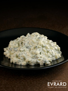 Tartare de concombre tzatziki